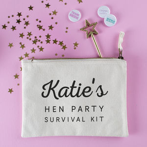 Personalised Hen Party Survival Pouch