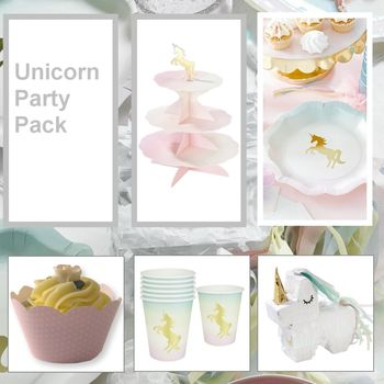 Unicorn Party Tableware Pack