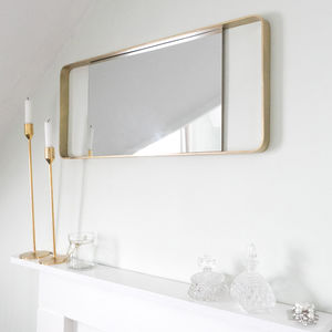 Brass Framed Mirror - dining room