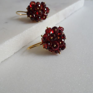 Garnet Cluster Earrings