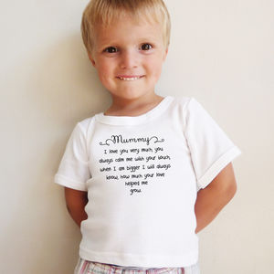 How Much I Love Mummy Rhyme, Babygrow, T Shirt - 1st mother's day