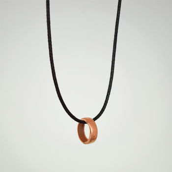 Copper Ring Necklace