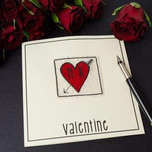 Valentine Embroidered Personalised Card