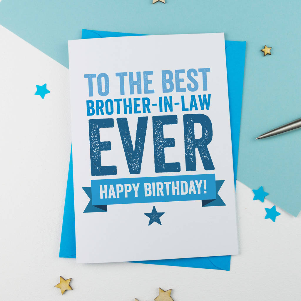 Brother In Law Birthday Card By A Is For Alphabet