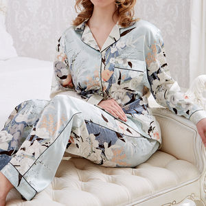 Personalised Women's Printed Blossom Pyjama's - bridal lingerie & nightwear