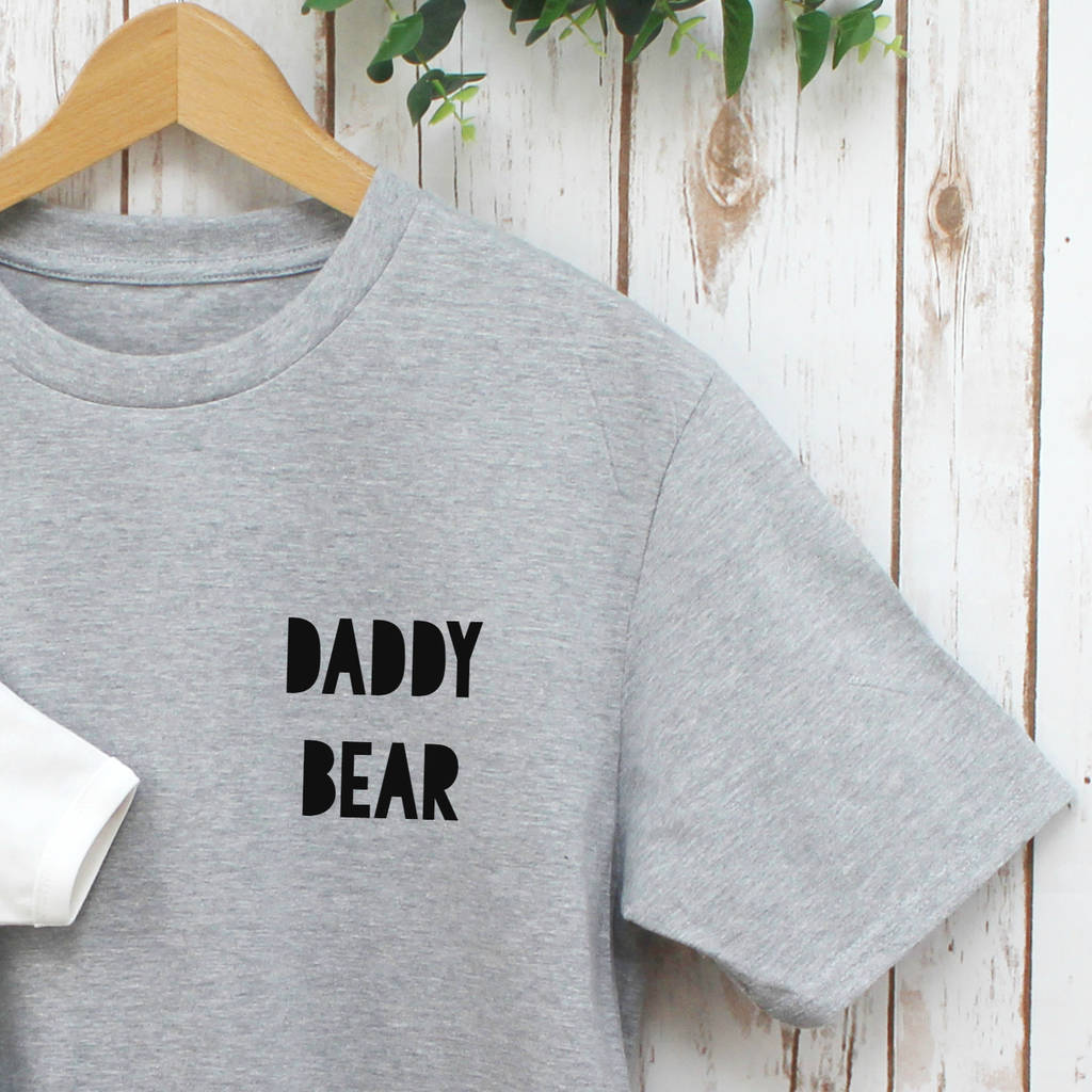 0bf9036f daddy bear baby and dad t shirt set by betty bramble ...
