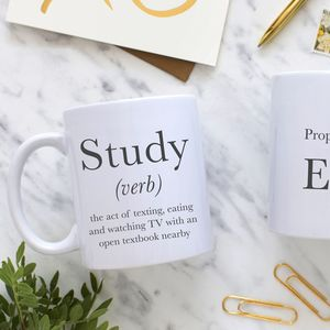 Definition Of Study Mug - off to university