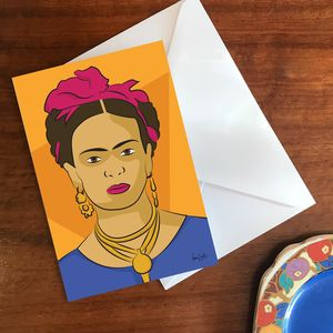 'Frida' A6 Greetings Card - blank cards