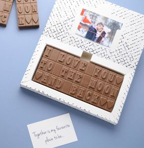 'I Love You To The Moon And Back' Chocolates - novelty chocolates