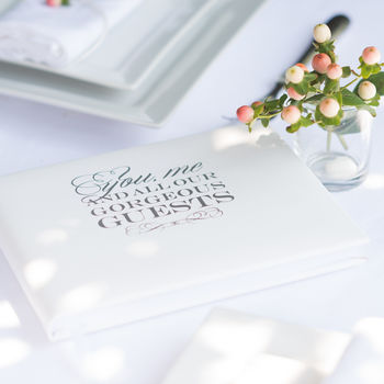 'You, Me And All Our Gorgeous Guests' Guest Book