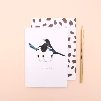 Two For Joy Magpie Engagement Wedding Anniversary Card