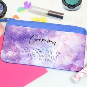Personalised Galaxy Space Make Up Bag
