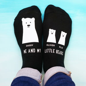 Personalised My Little Bear Socks - stocking fillers for him