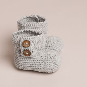 Hand Crochet Baby Cotton Boots - baby shower gifts & ideas
