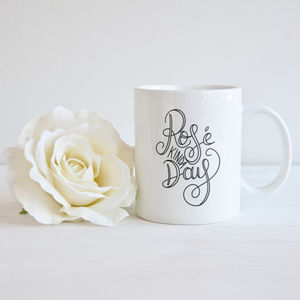 'Rosé Kinda Day' Wine Typography Mug