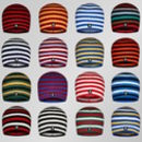 Men's Multistripe Cashmere Beanie Hat In Team Colours