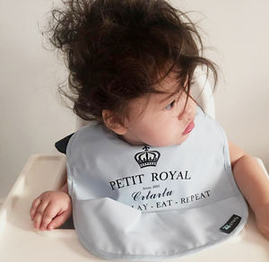 Grey Royal Baby Bib
