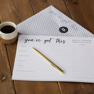 'You've Got This' Weekly Desk Planner Pad - gifts for her
