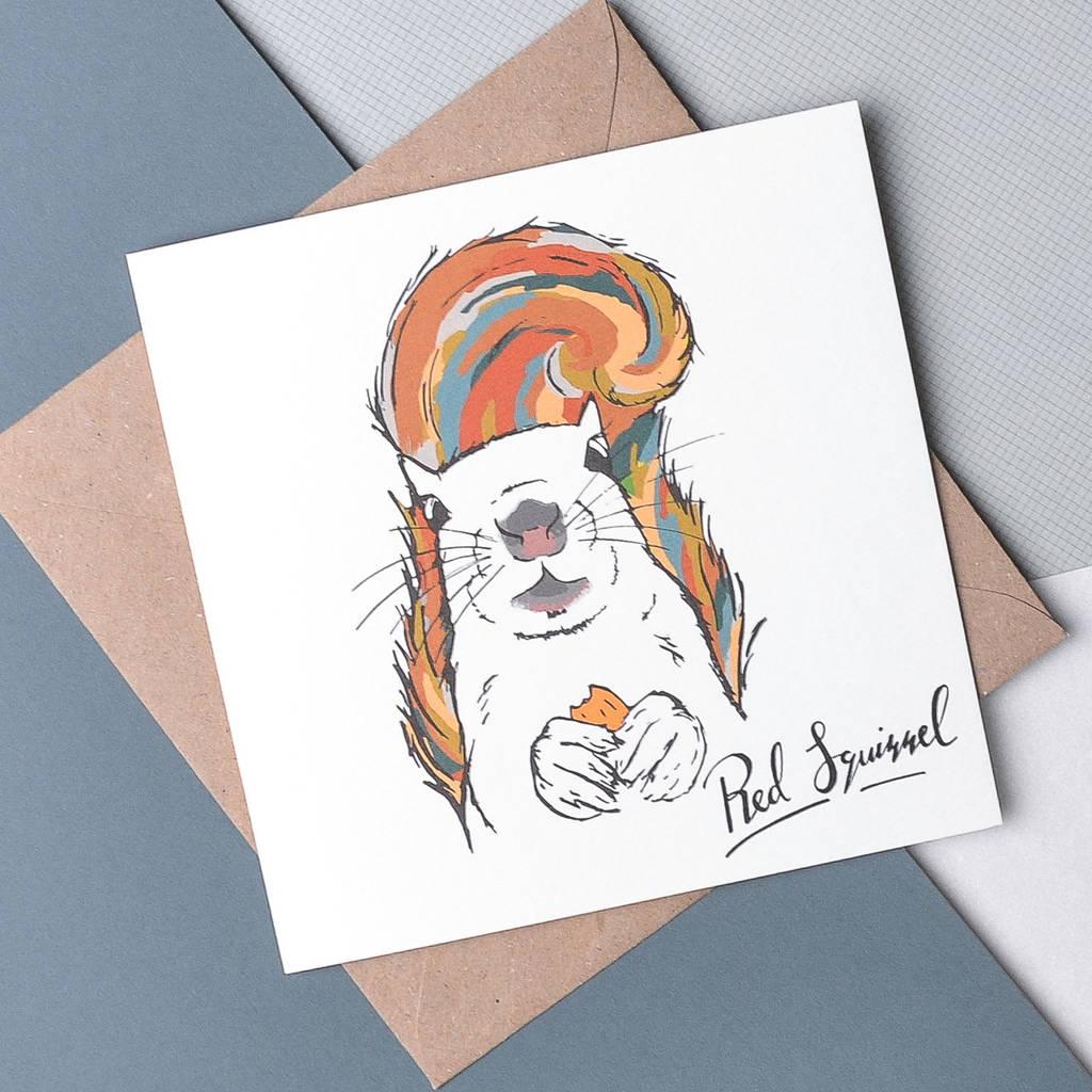 Scottish Animals 'The Squirrel' Card