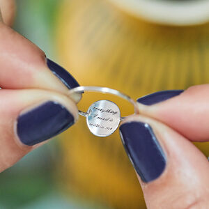 Engraved Hidden Positive Affirmation Ring