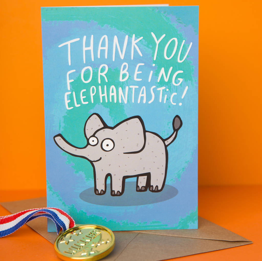'Elephantastic' Greeting Card