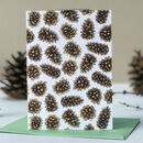 Pine Cones Christmas Card