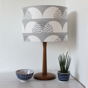 Cumulus Cloud Print Lampshade - bedroom