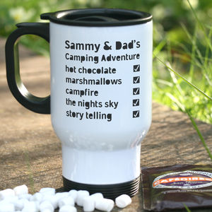 Camping Checklist Travel Mug Gift Set - new in garden