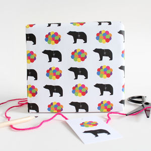 Rainbow Balloons Wrapping Paper And Gift Tags - cards & wrap