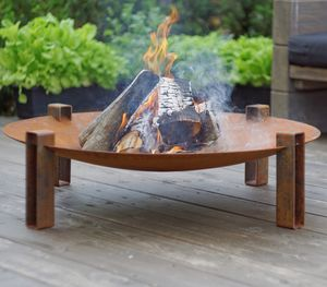 Maar Steel Fire Pit - fire pits & outdoor heating