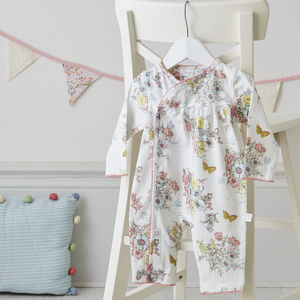 Mila Floral Print Babygrow - clothing