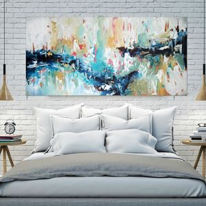 Horizons Of Tomorrow Large Blue Abstract Painting