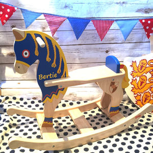 Brave Knights Or Princess Rocking Horse - children's room