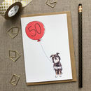 Personalised 50th Birthday Card Dog Design