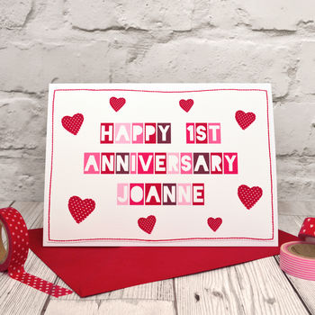 Personalised Typographic Anniversary Card