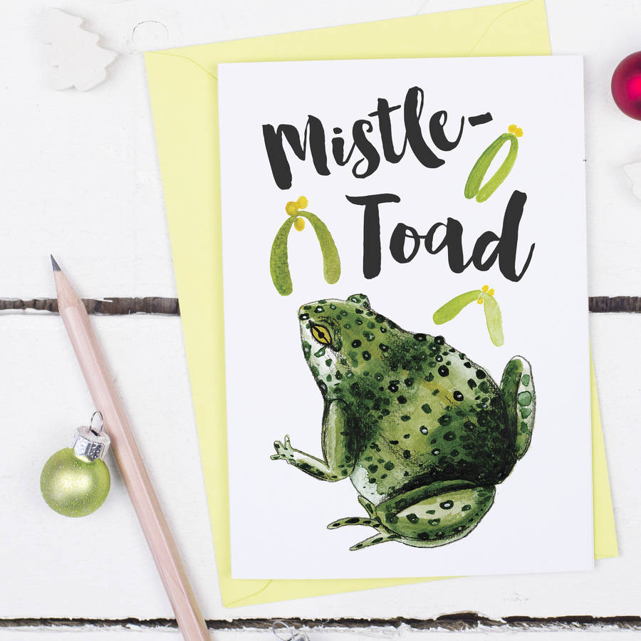 Mistle Toad Funny Christmas Card