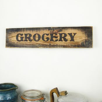 Antique Style Kitchen Sign