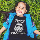 Daddy's Little Trooper Kid's T Shirt