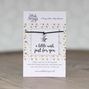 'A Little Wish Just For You' Star Wish Bracelet