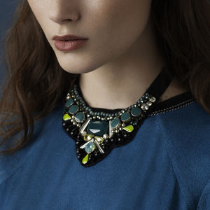 Bami Statement Bib Necklace - statement jewellery