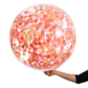Giant Peach Blossom Confetti Filled Balloon