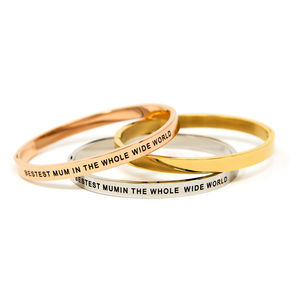 Bestest Mum Hinged Bangle - jewellery