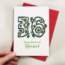 Floral Any Age Personalised Birthday Card
