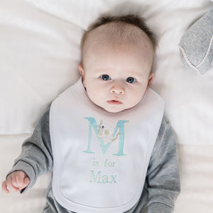 Personalised Alphabet Bib Blue