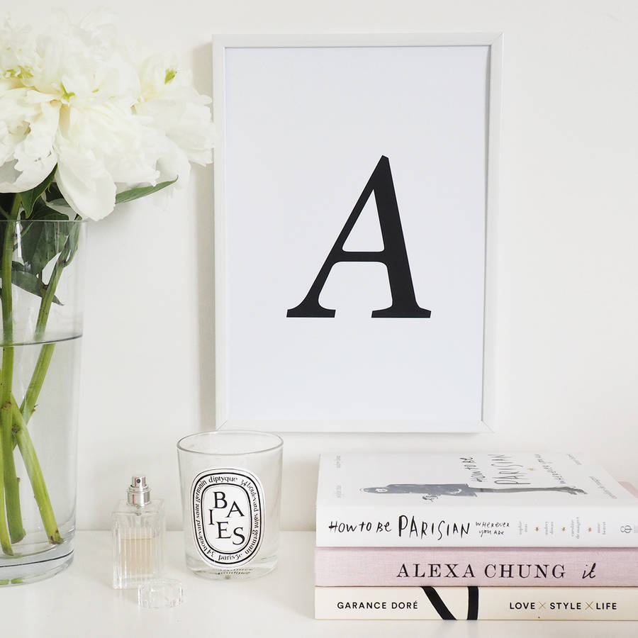 Personalised Initial Wall Art Foil Print