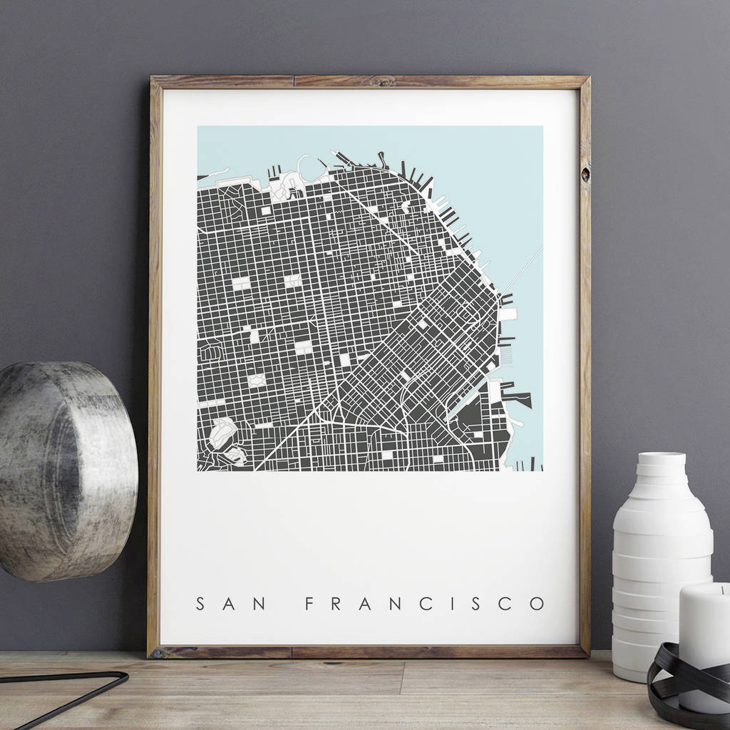 San Francisco Map Store%0A San Francisco Map Art Print Limited Edition
