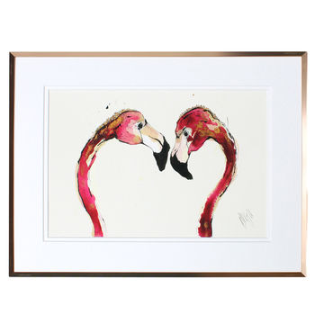 Love Love Love Flamingo Fine Art Print