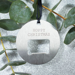 Personalised Bottle Opener Christmas Bauble