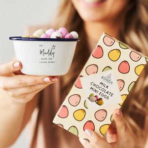 Personalised Treat Bowl And Chocolate Egg Set