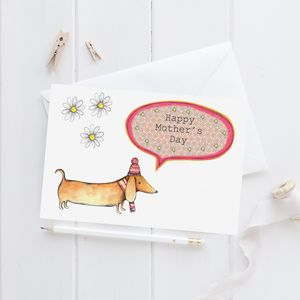 Personalised Sausage Dog Mother's Card